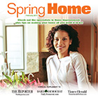 The Spring Home: 2017 cover shows a woman posing near a window.