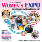The Women's Expo: 2018 cover features a collage of photos against a light pink background.