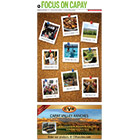The cover shows an array of images as Polaroids on a cork board.