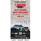 The Sonoma Raceway 2019: Toyota/Save Mart 350 cover features two cars racing.