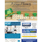 The Around Town: Feb-Mar 2020 cover has a St. Patty's theme.