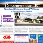 The cover shows an article focusing on a local chiropractor.